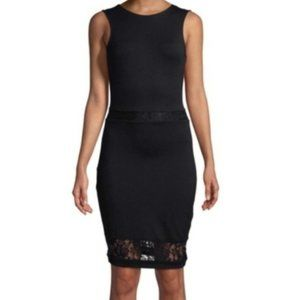 French Connection Black Bodycon Lace Dress 4